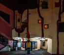 Nachts am Hundertwasser -Haus