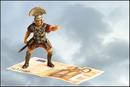 Römer auf fliegendem Geld-Teppich