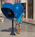 öffentliches Telefon in Kuba