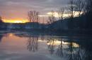 Baggersee Wernau Sonnenuntergang