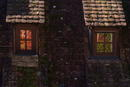Herbstfenster-Paar