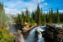 Athabasca Wasserfall im Jasper NP