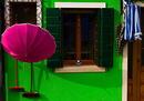 Pink vor grün