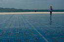 Solarzellen am Meer