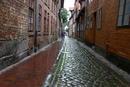 Altstadtgasse im Regen