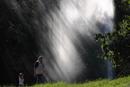 Wasser Lichtfontaine