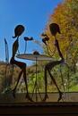 Zwei Damen beim Kaffeeklatsch